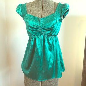 Silk turquoise top